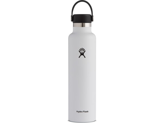 Hydro Flask Standard Mouth Drinkfles met standaard Flex Cap 709ml, white